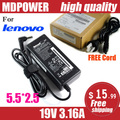 MDPOWER For Lenovo 19V 3.16A 60W Laptop AC Adapter Charger Power Cord
