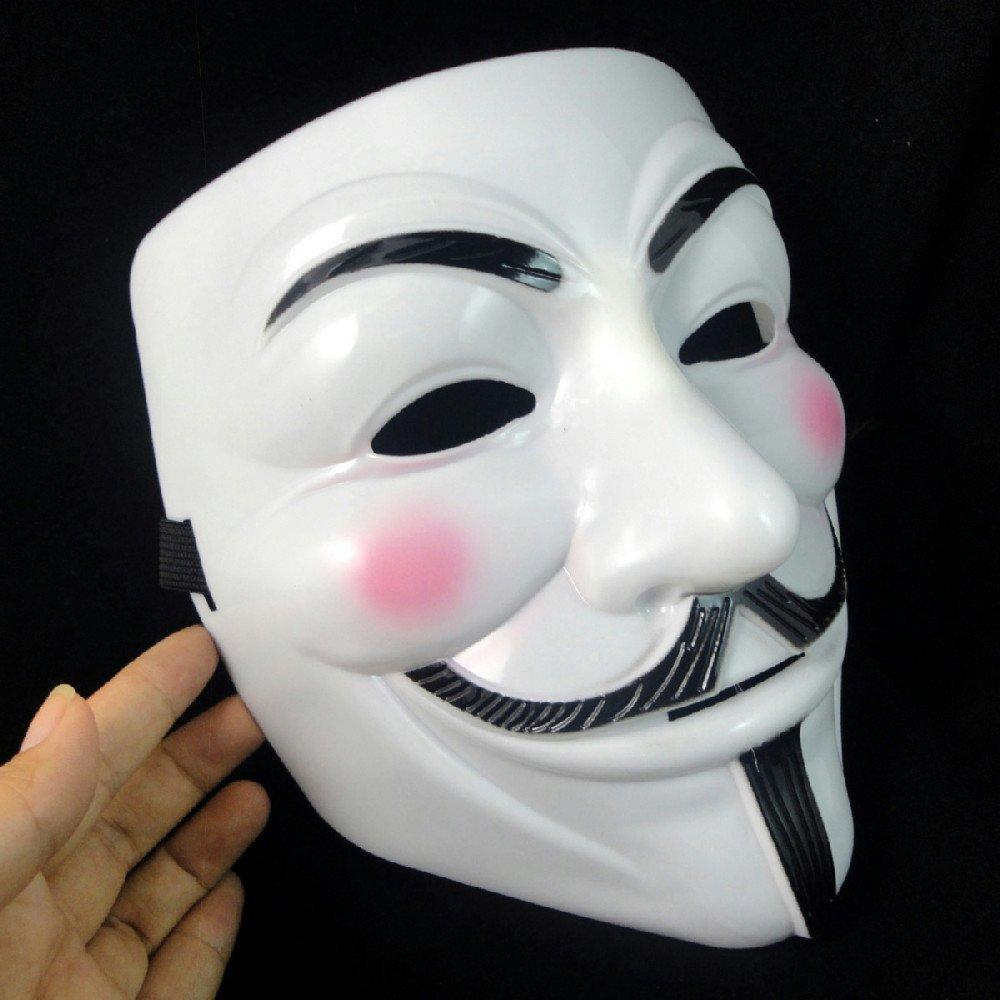 Aliexpress.com : Buy White V mask 100pcs/lot Vendetta Anonymous ...