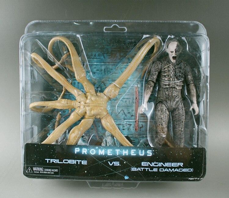 NECA Alien Prometheus Figure Ttrilobite VS Engineer Battle Damaged Ver Toys 7