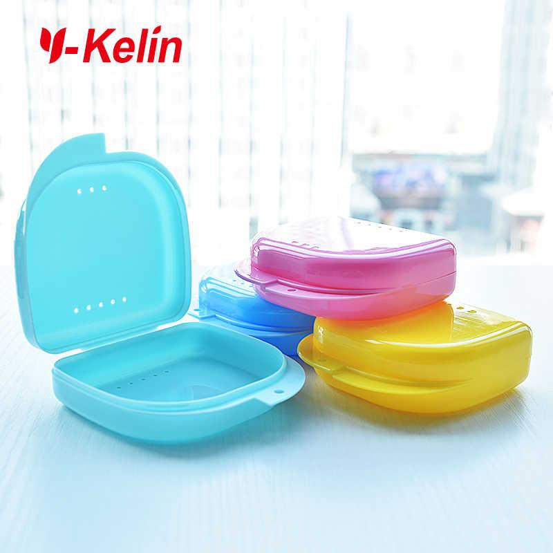 Y-kelin New Arrival Dental Retainer proteza schowek częściowy proteza case ortodontyczne małe zęby box pudełko z polipropylenu