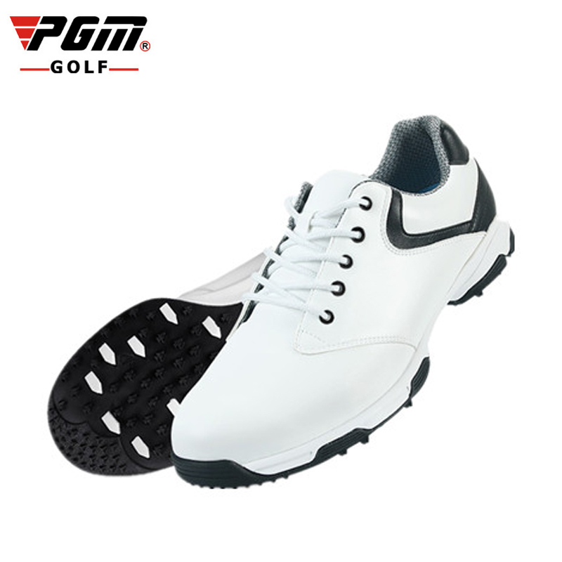 PGM Golf Shoes For Men PU Leather Waterproof Sneaker Breathable Athletic Shoes Professional Men Golf Sport Sapatos De Golfe pgm men golf shoes breathable athletic sneaker plus size 39 46 mesh sport shoes pu waterproof professional golf shoes for men