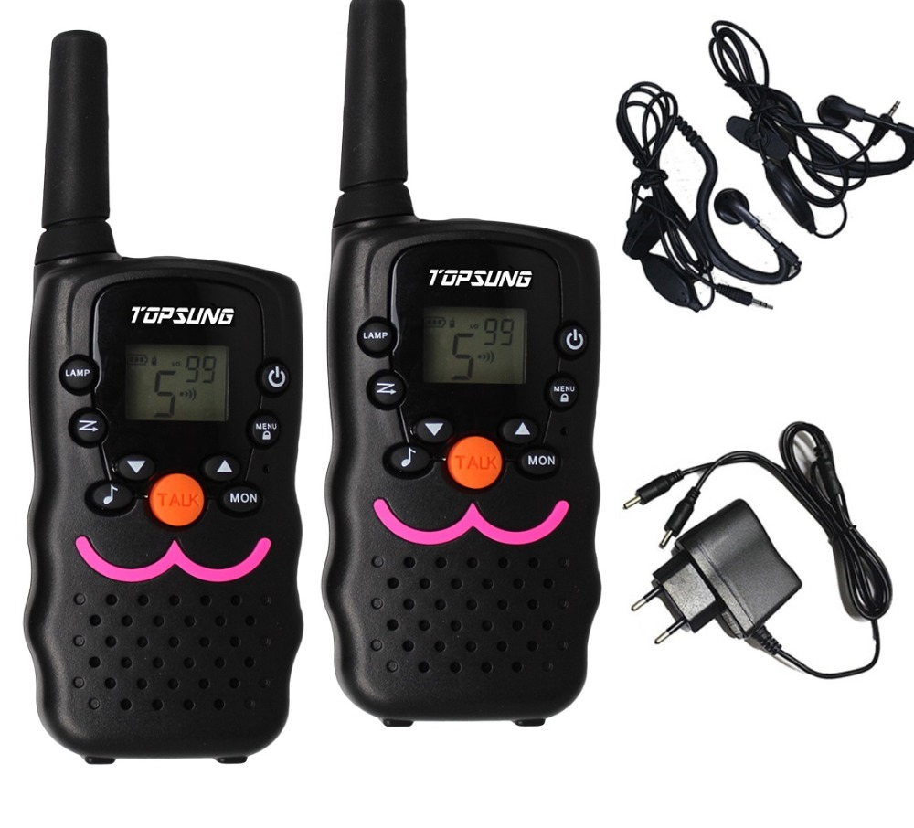 Long range VT8 PMR446 1W portable 2 way mobile radio walkie talkies pair UHF transceiver transmitter LED flashlight w/ charger