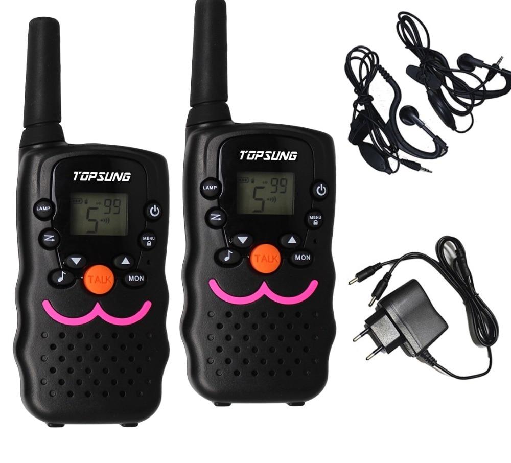 De largo alcance VT8 PMR446 1W portátil de 2 vías de radio móvil walkie talkies par transmisor UHF transmisor-receptor LED linterna w / cargador