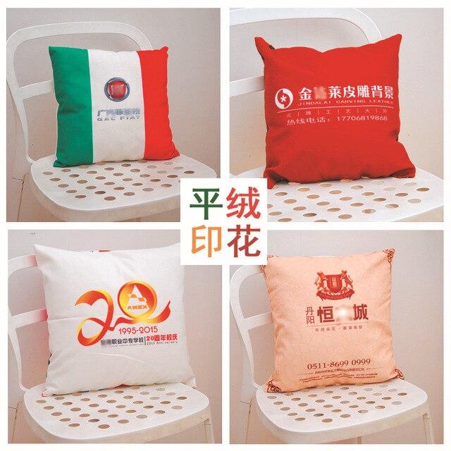 Thuis Textiel Eenvoudige Afdrukken Kussen, Core Katoen, Linnen, Pluche, Creatieve Kussen, Gift Kussen, logo Patroon Customization