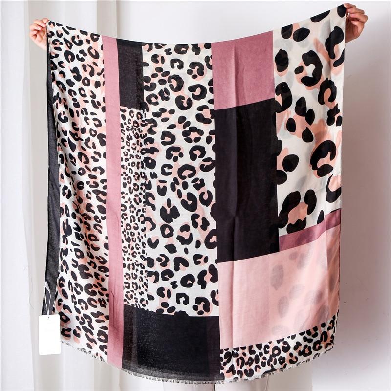 New 2019 Women Geometric Leopard Dot Viscose Shawl   Scarf   Luxury Brand   Wrap   Warm Pashmina Snood Bandanas Muslim Sjaal 180*100Cm