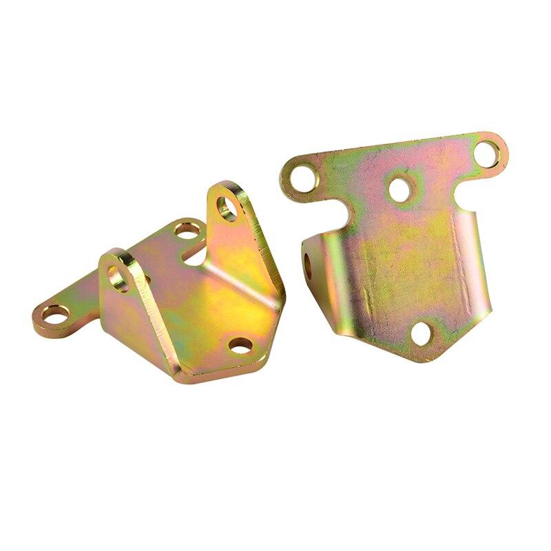 NICECNC Racing Small Block Solid Engine Motor Mounts Zinc Plates Kit For Chevy 283 327 350 400 #3990914 Dirt Bikes 2 1/2 Ear