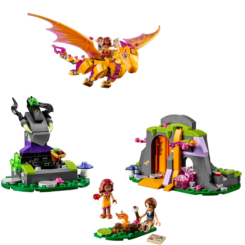 Bela Elves Azari The Magical Bakery Fire dragon Girls Princess Fairy Building Block brick set Compatiable With Legoingly 41175 ynynoo bela 10501 233pcs princess friend elves elvendale school of dragons model building kits blocks brick with 41173