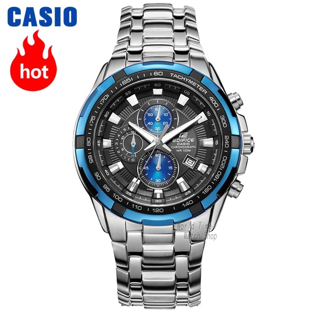 878cb96170c Esportes de quartzo dos homens assistir calendário relógio Casio Edifice  grande dial correia de aço negócio relógio à prova d  água EF 539 EF 540 em  ...