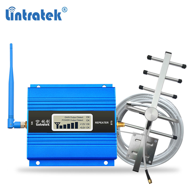 Lintratek GSM 900MHz Cell Phone Signal Booster Amplificateur GSM Mobile Cellular Repeater Amplifier Antenna LCD Display Set daLintratek GSM 900MHz Cell Phone Signal Booster Amplificateur GSM Mobile Cellular Repeater Amplifier Antenna LCD Display Set da