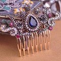 New Arrival Vintage Flower Crown Hairwear Hair Combs Hair Clips Hairpins Headdress Classic Turkish Jewelry AntiGold Women Bijoux