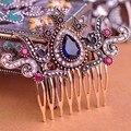 Nueva Llegada de La Vendimia de La Corona de Flores Pinzas Para el Cabello Horquillas Hairwear Peinetas Tocado Clásico AntiGold Joyas Turco Mujeres Bijoux