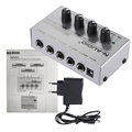 MX400 Ультра-компактный Низкий Уровень Шума 4 Каналов Линии Моно Аудио Микшер с Адаптером Питания
