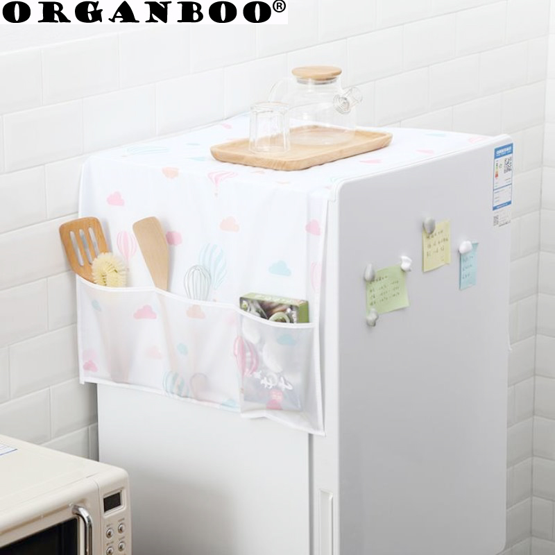1PCS Refrigerator dust cover household appliances waterproof cover towel refrigerator hanging bag