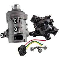 Bomba de agua eléctrica para BMW E90 83 E60 325i 330i 525i 530i X5 N52 53 11517586925 + equipo para caja de termostato