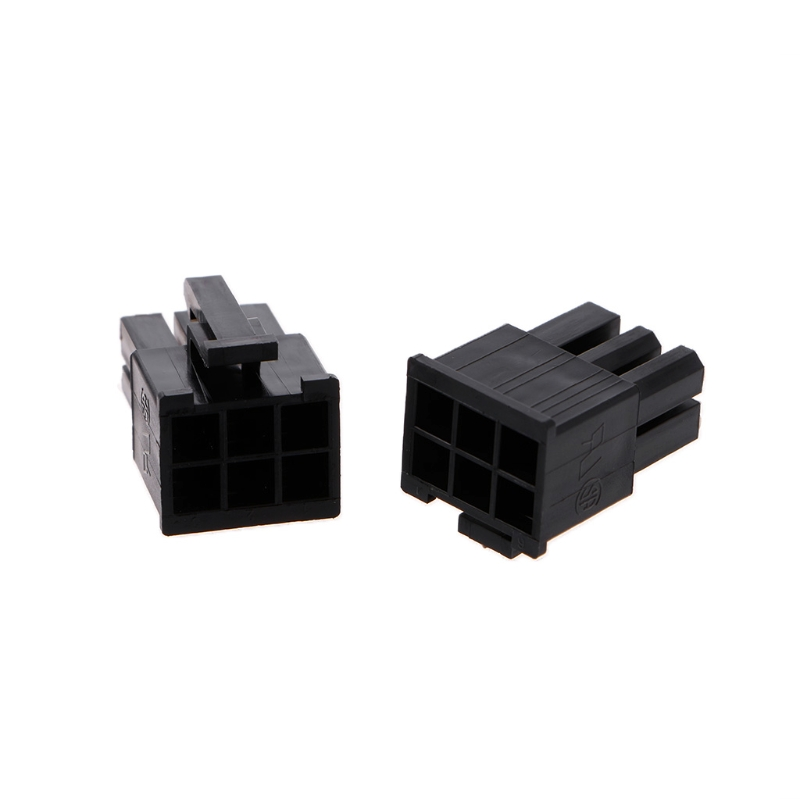 50 Pcs 4.2mm 6P 6 Pin Male Power Connector For PC Computer PCI-E Plastic Shell L15