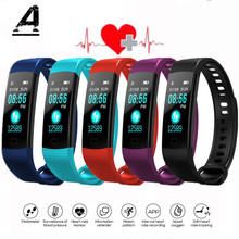 Купить с кэшбэком Men and Women Smart Watch Sports Bracelet Y5 Waterproof Heart Rate Monitoring Smart Push Information Compatible With Android IOS