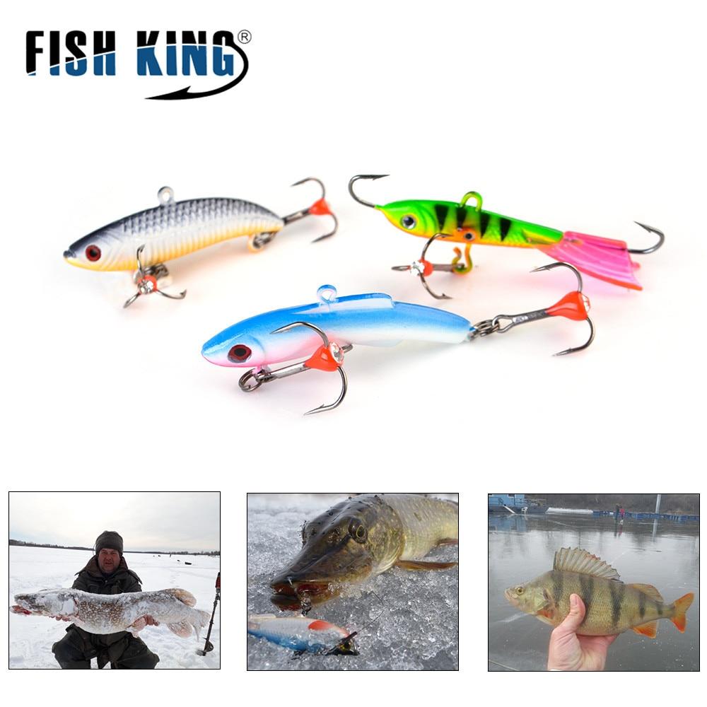 FISHKING 1Pc Winter Ice Fishing Lure 4.3cm-8.5cm 10g-35g 3D Eyes Colorful AD-Sharp Lead Bait Hard Lure Balancer For Fishing Bait