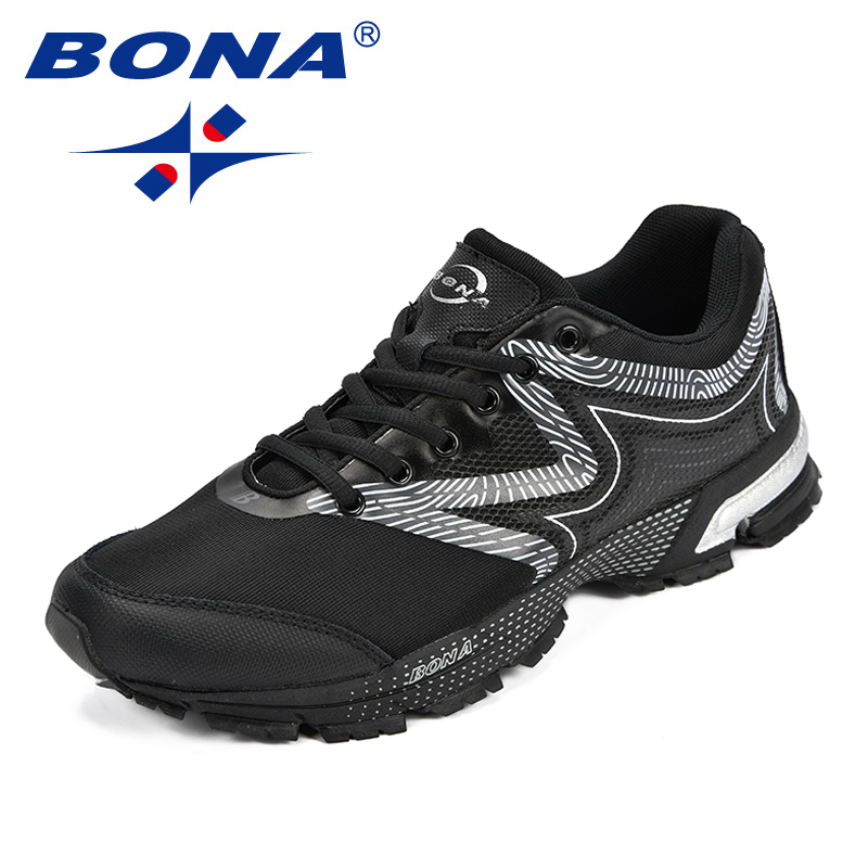 BONA New Classics Style Men Running Shoes Mesh Men Athletic Shoes Lace Up Men Outdoor Sneakers Shoes Light Soft Free Shipping bona new classics style men running shoes mesh men athletic shoes lace up men outdoor sneakers shoes light soft free shipping