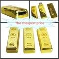 Освободите корабль Новый дизайн золотой usb flash drive pen drive 32/64/128/256 ГБ золотой Слиток USB 3.0 Флэш-памяти ручка привода ручки диска горячая