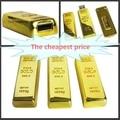 Livre o navio Mais Novo projeto de ouro usb flash drive pen drive 32/64/128/256 gb Barra de ouro USB 3.0 Flash memory pen drive de disco Vara quente