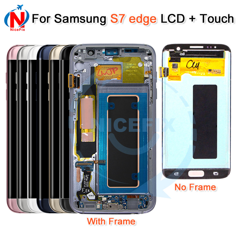 For SAMSUNG GALAXY S7 Edge G935 G935F LCD Display Touch Screen Digitizer with Frame For Samsung S7 Edge G935F lcd Display