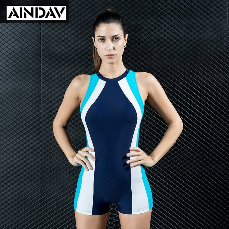 AINDAV Professional Boyleg One Piece Swimsuit Sports Swimwear Women Racing Swimsuit  Swimming Bathing Suits Female Bodysuits e4ad20ce28a3