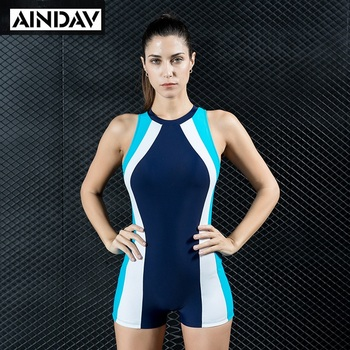 7f33d2ce148 Hot Deals AINDAV Professional Boyleg One Piece Swimsuit Sports Swimwear  Women Racing Swimsuit Swimming Bathing Suits Female Bodysuits