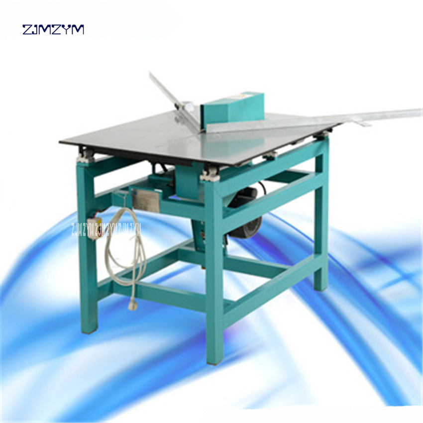 5114 Table-movable Picture Frame Molding Cutting Machine 110V/220V/380V /50/60 Hz Push Table Frame Cutting Machine 275mm Width
