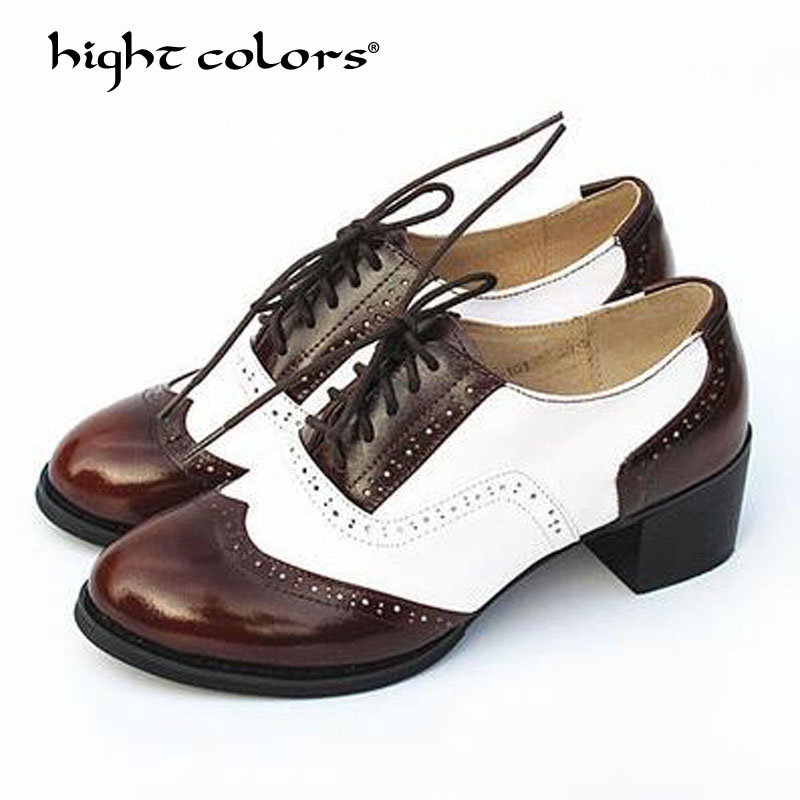 Vintage British Style Oxford Shoes For women 100 Genuine leather flat shoes women US size 10