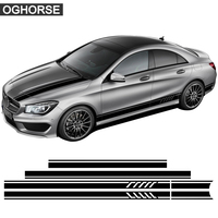 Edition 1 Style Car Hood Roof Rear Side Stripe Skirt Sticker Decal for Mercedes Benz W117 C117 X117 A CLA Class AMG Accessories