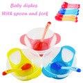 Sensor de temperatura de alta qualidade bebê dinnerware conjunto tigela/colher/garfo conjunto pratos crianças