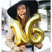 Foil Helium-Balloons Rose-Gold-Number Birthday-Party 30/40inch Decor-Supplies Adult 50-Years-Old