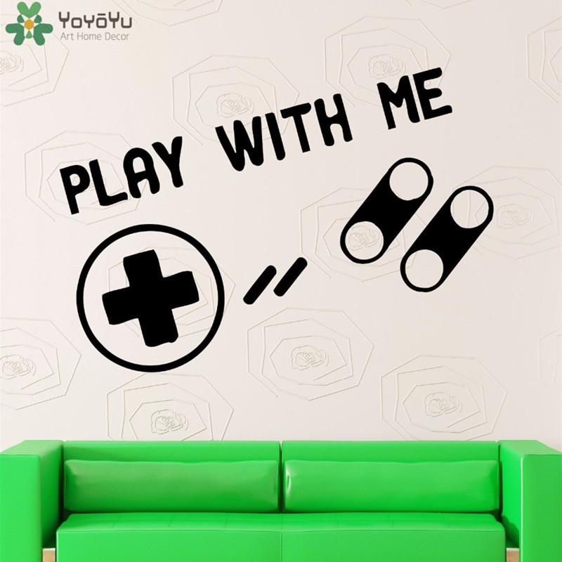 Yoyoyu Wall Decal Quotes Play With Me Game Wall Stickers Vinyl Kids