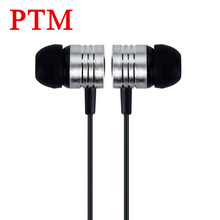 PTM In ear 3.5mm Sport Headset Noise Canceling Colorful Portable Hifi Earbuds Cheapest Earphones for Samsung xiaomi Phone MP3
