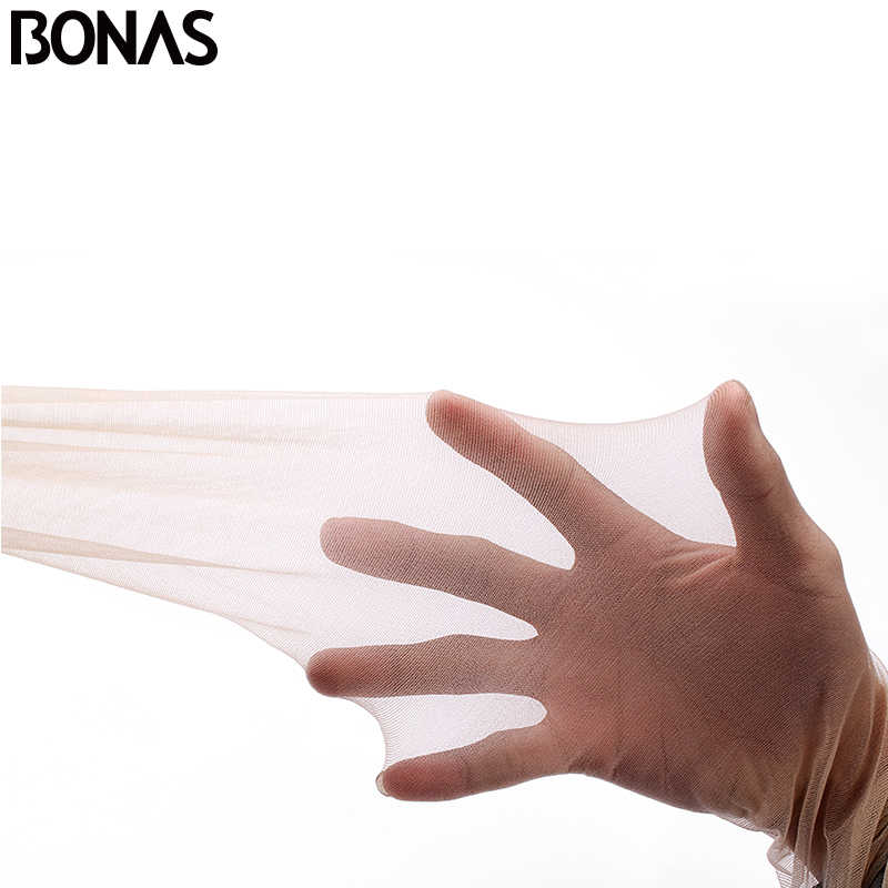Bonas耐裂性ストッキングナイロンタイツ女性のセクシーな黒肌靴下collant女性ストッキング圧縮ストッキング
