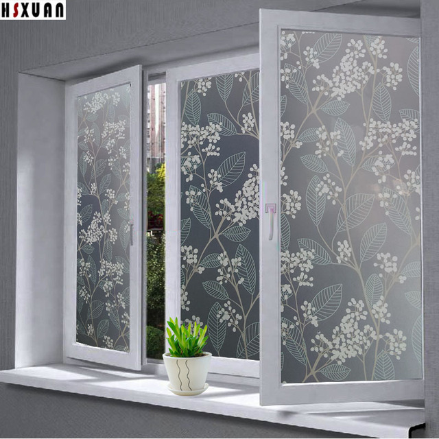 Decorative Window Privacy Film 40x100cm Decal Countertop Decor PVC  Self Adhesive Glue Frosted Window Sticker