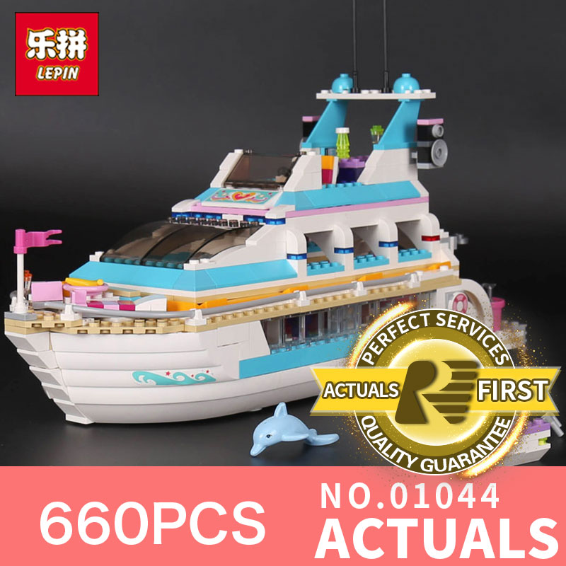 660Pcs Lepin 01044 Genuine Girl Series The Dolphin Cruiser Set 41015 Building Blocks Bricks Funny Toys Model For girls gifts the girl with all the gifts