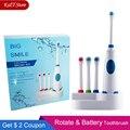 Электрическая зубная щетка с вращающейся батареей  4 шт.  сменные мягкие вращающиеся зубные щетки для гигиены полости рта