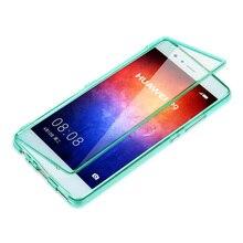 Fundas Huawei P 9 чехол FLI P Ясно T P U чехол силиконовый Транс P arent Coque P 9 плюс Carcasa P 9 Plus Сенсорный экран протектор телефона