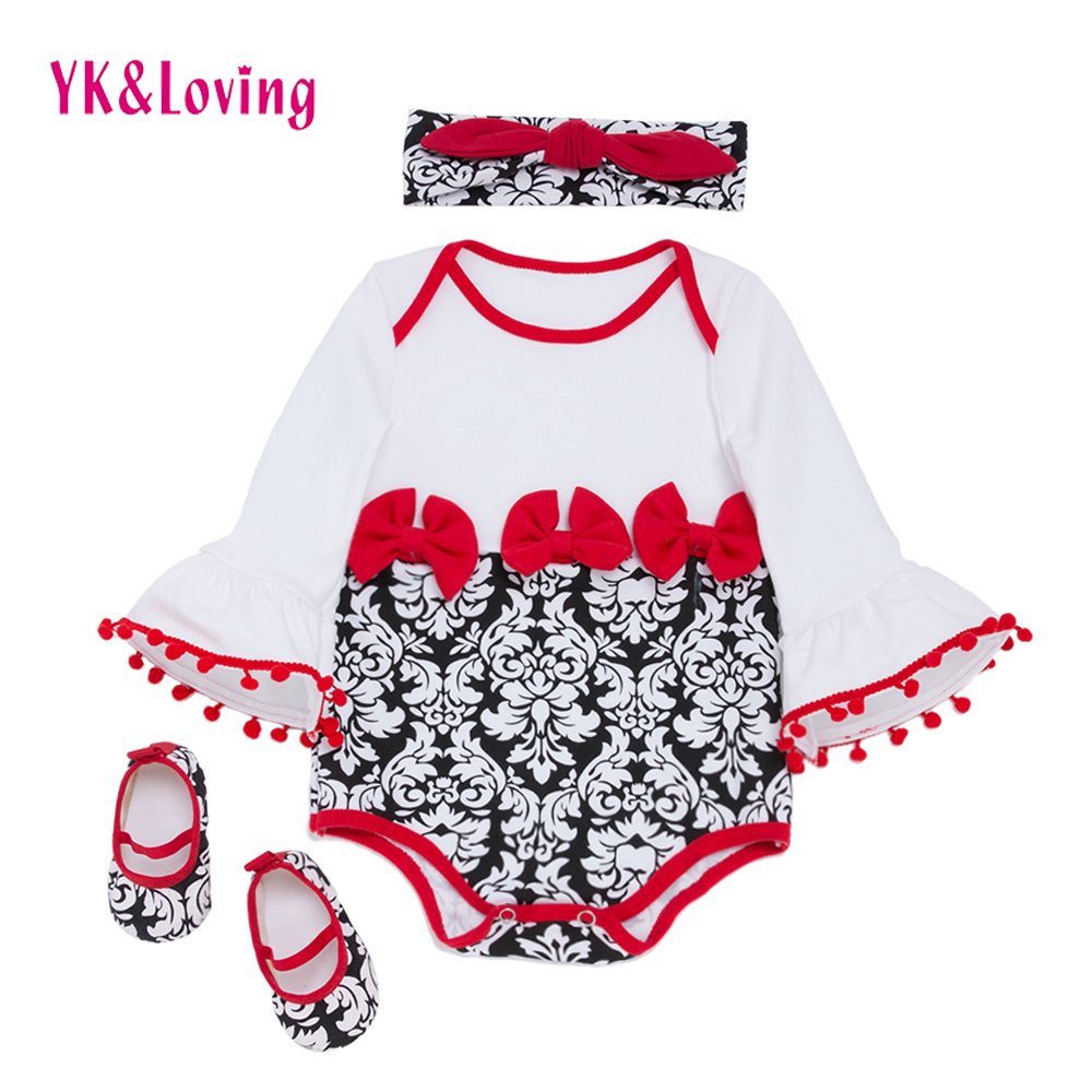 3pcs Baby Romper Sets Girl Ruffles Speaker Sleeve Infant Damascus Tassels Jumpsuit Princess Overalls Girls Clothes 2018 New infant newborn baby girl summer casual clothes big ruffles sleeve watermelon romper outfits sunsuit jumpsuit clothing