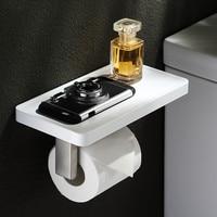 Bathroom accessories stainless steel tissue storage holder multi function silicone toilet paper rack shower storage shelf