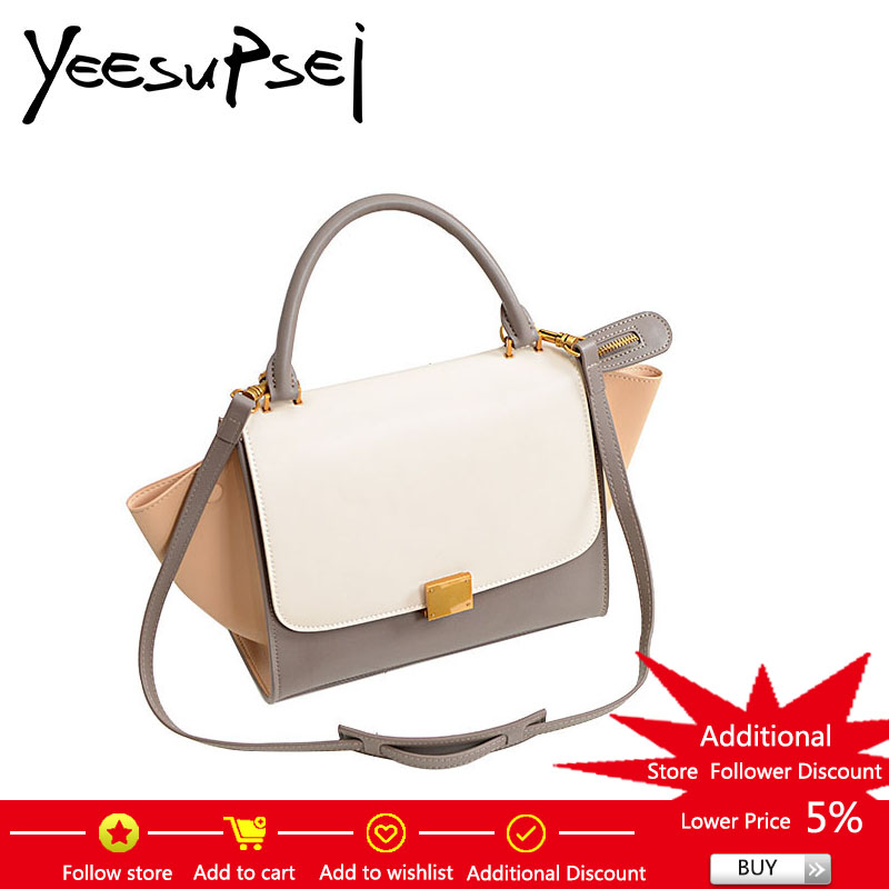 YeeSupSei Fashion Designer Trapeze Bag Lady Smiley Bag Leather Tote Bag Luxury Women Handbag Shoulder Crossbody Messenger Bag portable cob flashlight torch usb rechargeable led work light magnetic cob lanterna hanging lamp for outdoor camping