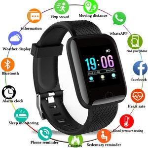 Image 1 - Smart Uhr Männer Blutdruck Herz Rate Monitor Milanese Edelstahl Smart Armband Sport Fitness tracker Smart uhr + Box