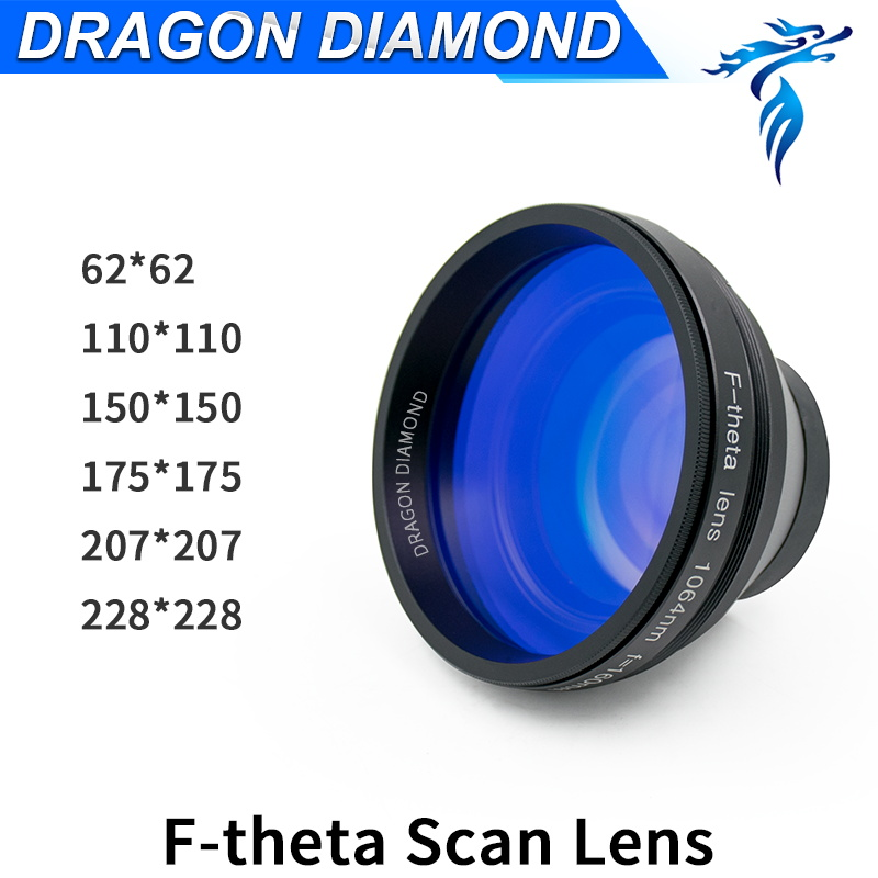 New F-theta Scan Lens 62x62 110x110 150x150 175x175 207x207 228x228 F100-330mm Field Lens for 1064nm Fiber Laser Marking Machine scan area 110 110yag semiconductor fiber galvo f theta scan lens system for laser marking machine sl 1064 f100 70 70