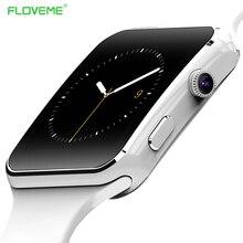 Floveme E6 Смарт-часы на запястье Bluetooth SmartWatch для Android для Samsung Huawei Sony Xiaomi sim-карта TF трекер сна для взрослых