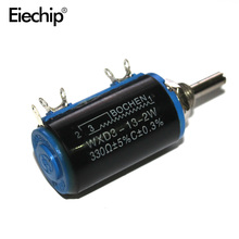Free shipping Smart Electronics 1pcs WXD3-13-2W 330 Ohm Rotary Side Rotary Multiturn Wirewound Potentiometer
