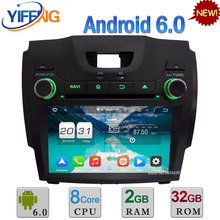 8 «Android 6.0 Окта основные 2 ГБ RAM 32 ГБ ROM 3 Г/4 Г DAB Автомобиля dvd плеер, радио gps навигация для chevrolet s10/isuzu d-max 2013 2014
