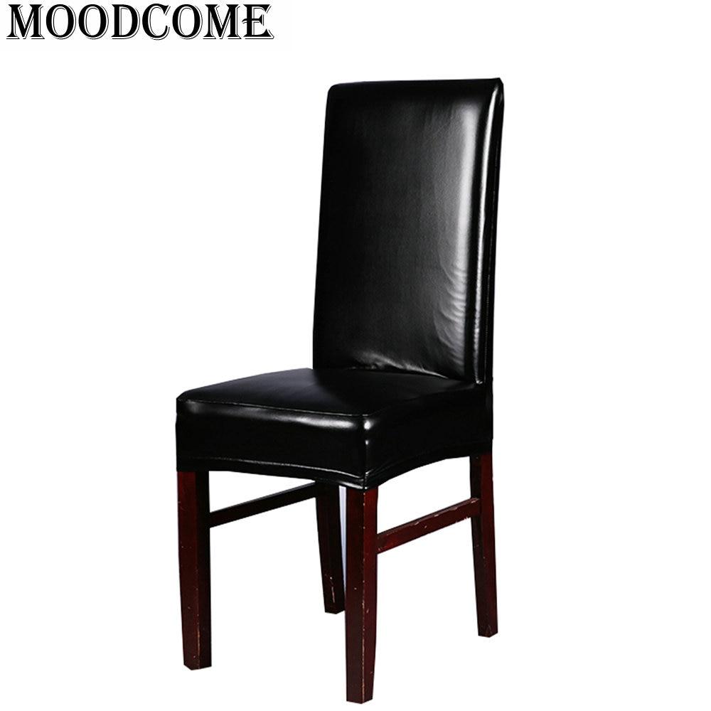 leather pu chair cover Elastic stoelhoezen eetkamer new fashion ...