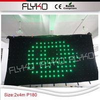 Gratis verzending volledige kleur rgb led ster gordijn p18 2*4 m-in Toneelbelichtingseffecten van Licht & verlichting op