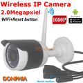 1080 P Full HD Câmera de 2.0 Mega pixel IP Sem Fio ao ar livre Onvif Wifi com botão de reset nigth visão IRcut P2P CCTV Segurança câmera